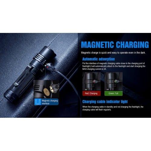 trustfire mc3 edc magnetic rechargeable flashlight 6