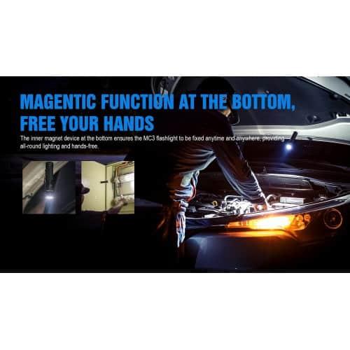 trustfire mc3 edc magnetic rechargeable flashlight 4