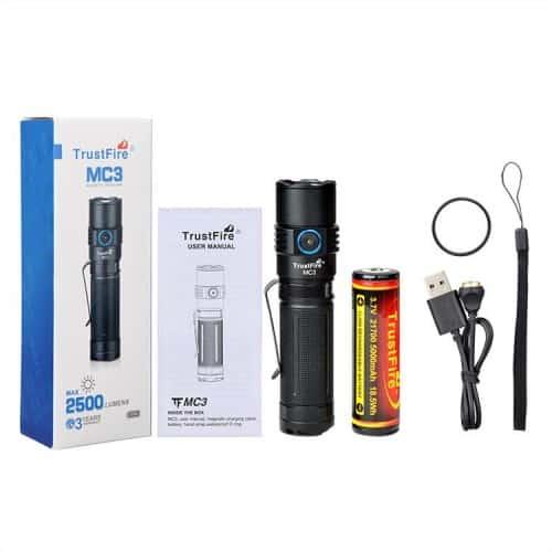 trustfire mc3 edc magnetic rechargeable flashlight 8