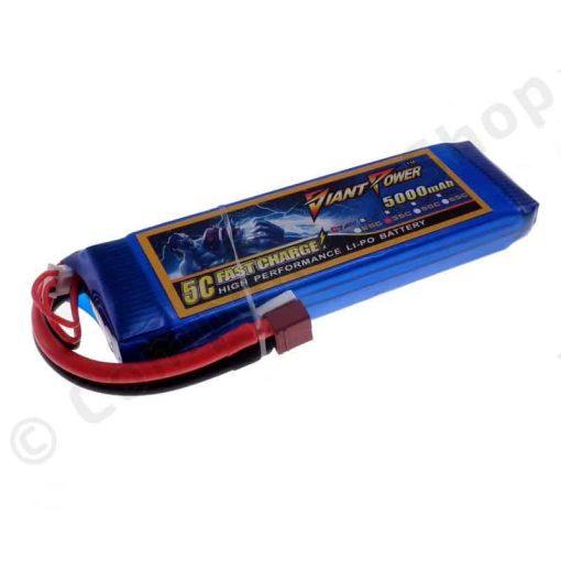 giant power 7.4v 5000mah battery deans