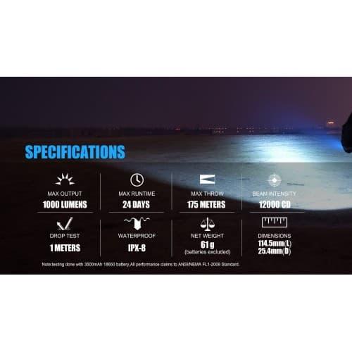 trustfire e3r rechargeable edc flashlight 3