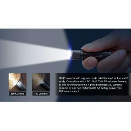 trustfire mini3 small keychain torch 12