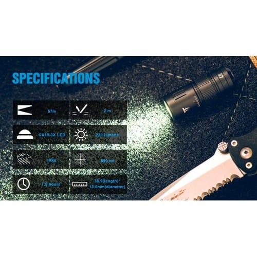 trustfire mini2 keychain flashlight 6