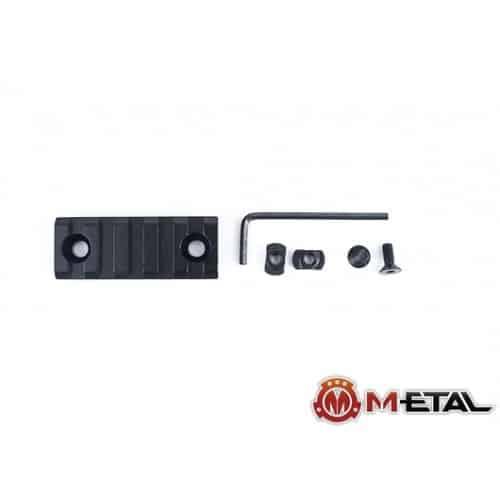 m-etal 5 slot m-lok rail section