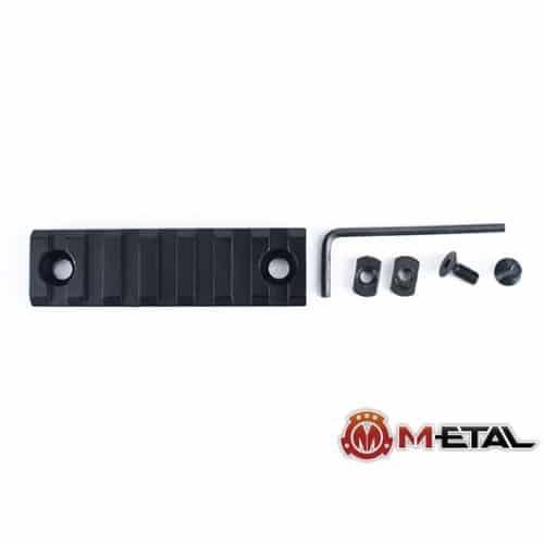 m-etal 7 slot m-lok rail section