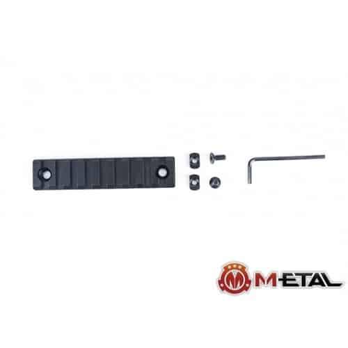 m-etal 9 slot m-lok rail section