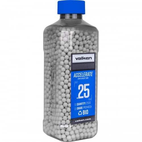 valken accelerate 0.25g biodegradable bb 2500 bottle