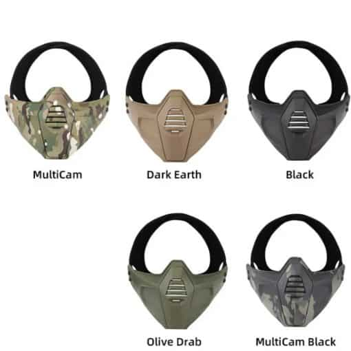 wosport multi-fit lower face mask all