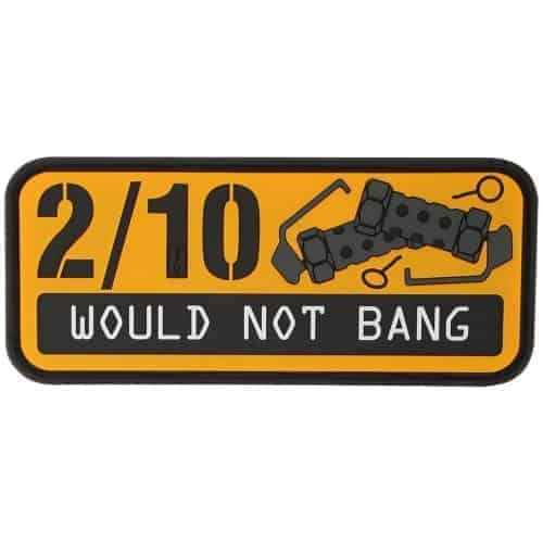 2/10 Would not bang PVC patch