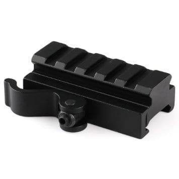 Oper8 20mm 5 slot QD RIS riser for picatinny rail