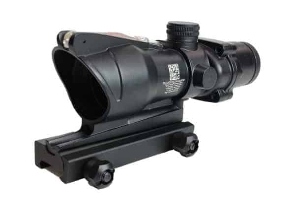 ACOG Style 4x32 sight with working Red fiber