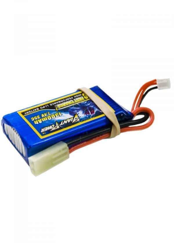 Giant Power 7.4V 1300mAh 15C contin discharge lipo battery mini
