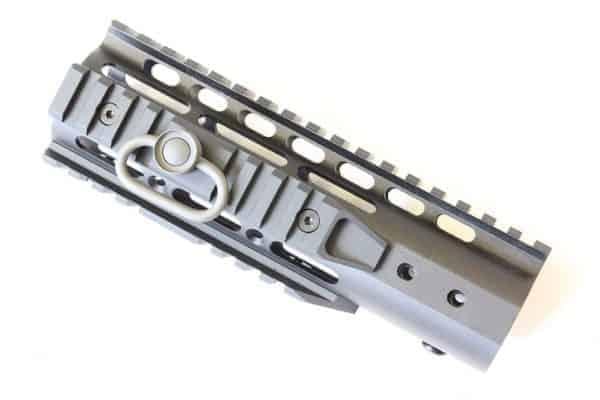 "ZCI Keymod CNC aluminium with rails & sling loop 7"""