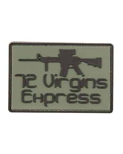 72 Virgins Express morale patch (Green)