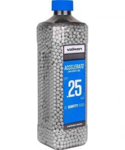 Valken Accelerate Airsoft BBs 0.25G 2500 White