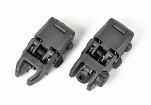 MBUS Type Back-Up Front & Rear Sight Set - Black