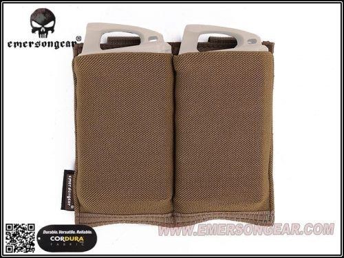 Emerson gear elastic double pouch coyote 2 Emerson Gear Double Elastic Magazine Pouch