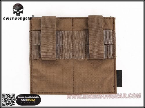 Emerson gear elastic double pouch coyote 3 Emerson Gear Double Elastic Magazine Pouch