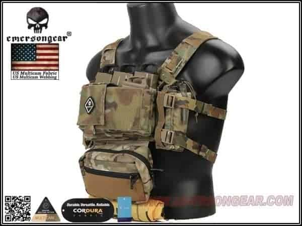 Emersongear Micro Fight Chissis MK3 Chest Rig Black 2 Emerson gear Micro Fight Chassis MK3 Chest Rig - Coyote Brown