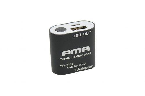 FMA 11.1v Lipo to USB charger - Black