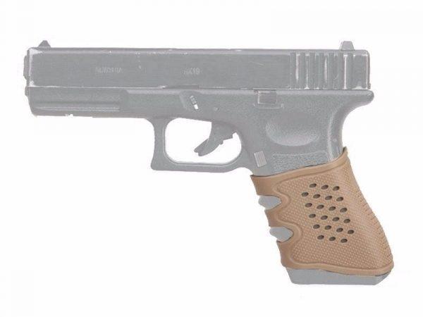 Universal Glock Rubber Grip - Tan