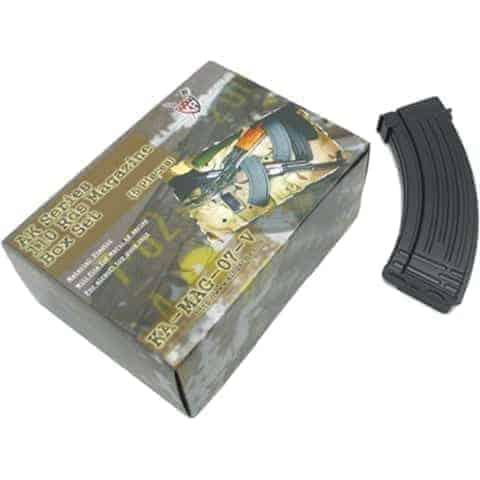 King Arms AK 110 Rounds Magazines Box Set (5pcs)