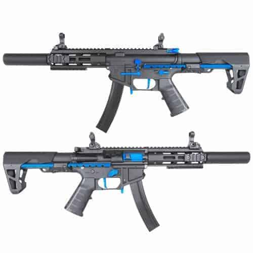 King Arms PDW 9mm SBR SD - Black & Blue