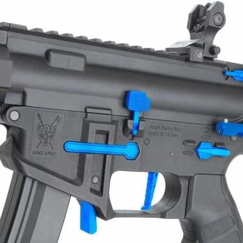King Arms PDW 9mm SBR M-LOK - Black & Blue