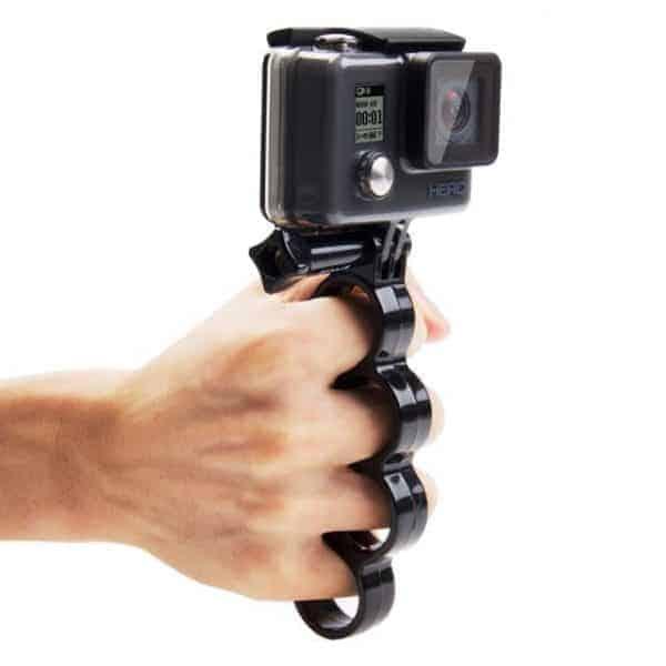 PULUZ Handheld Plastic Fingers Grip Ring Monopod Tripod Mount wi