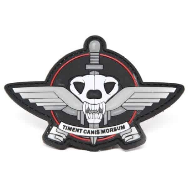 Timent Canis Morsum 'Fear the bite' morale patch (Black)