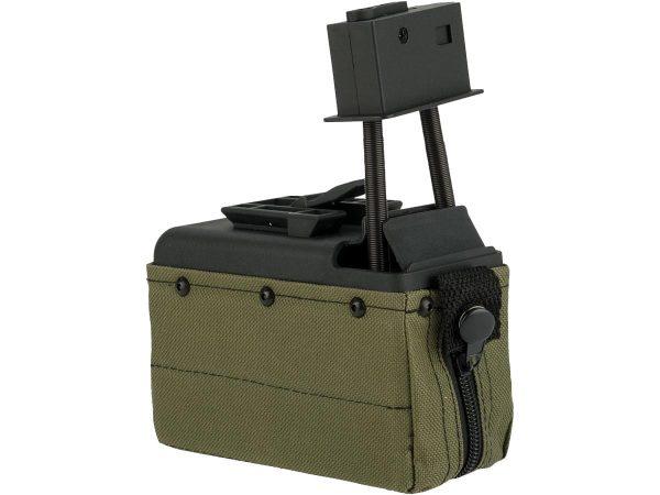 A&K M249 1500 round box magazine (Green)