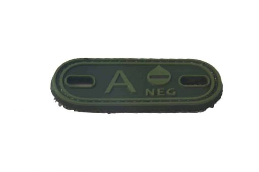 A Negative blood type patch (Green) (Fits boot lace)