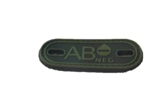 AB Negative blood type patch (Green) (Fits boot lace)