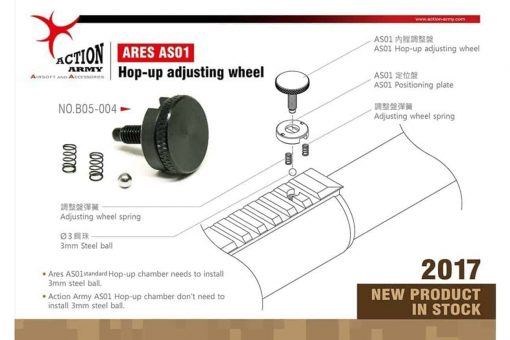 Action Army Ares Striker AS01 Hop adjustment wheel