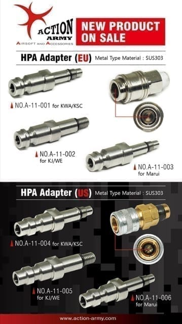 action army hpa adaptor compare Action Army HPA Adapter (EU) for WE/ KJ GBB