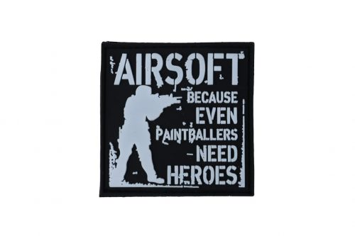 Airsoft, because even paintballers need heroes patch (Black)