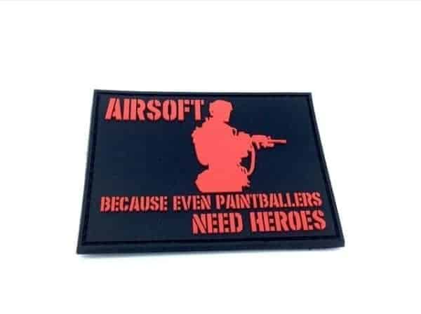 Airsoft: Because Even Paintballers Need Heroes patch (Red)