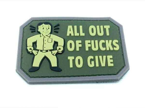 All out of F***s to give morale patch (Green)