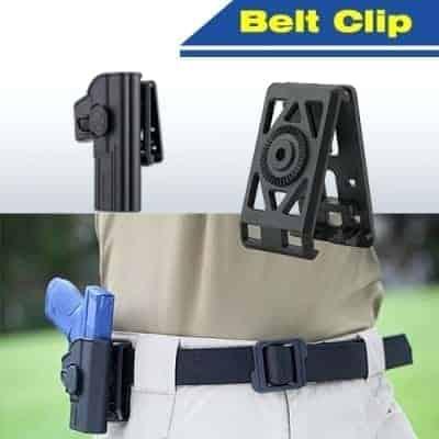 amomax belt clip black 2 Amomax Holster Belt Clip - Black