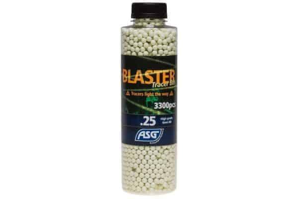 asg blaster 0 25 normal bb 3300 tracer bottle ASG Blaster 0.25g Tracer 3300 bottle