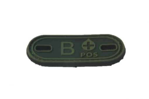 B Positive blood type patch (Green) (Fits boot lace)