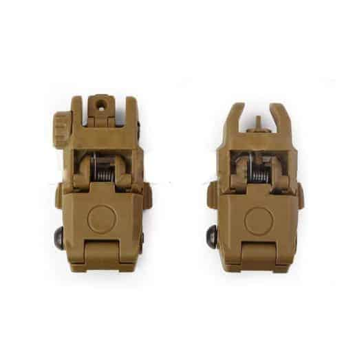 Oper8 Back-Up Front And Rear Sights - Tan