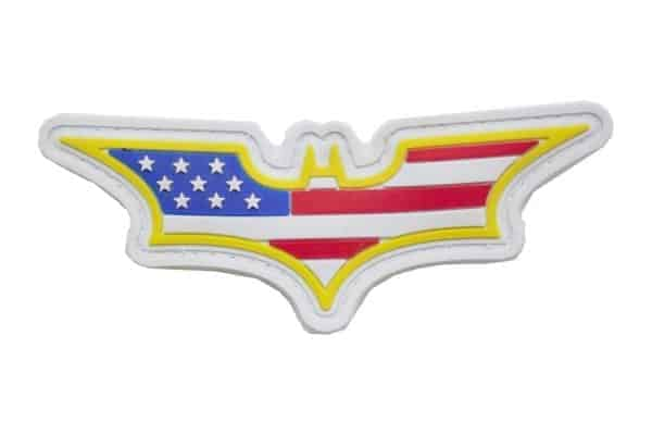 Batman Stars and Stripes (White) Morale Patch