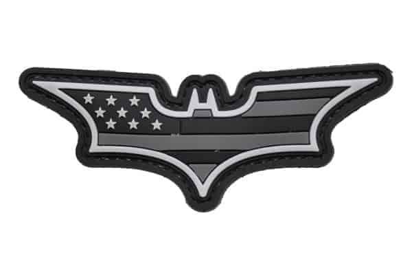 Batman Stars and Stripes (Black / Grey ) Morale Patch