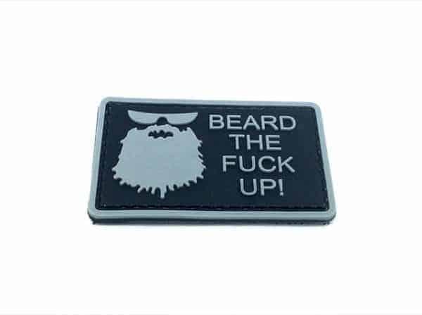 Beard The F**k up morale patch (Black)