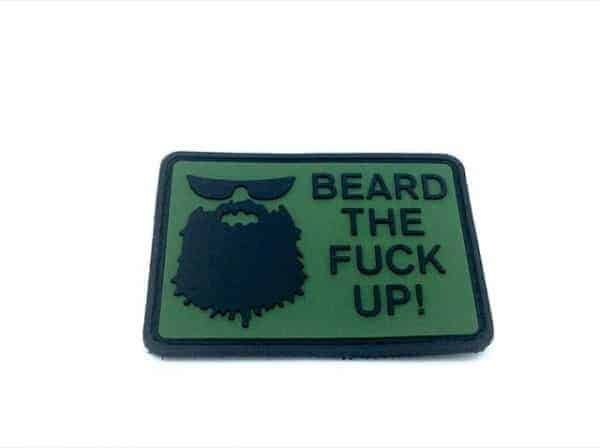 Beard The F**k up morale patch (Green)