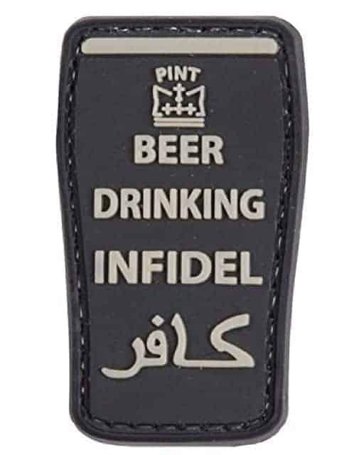 Beer Drinking Infidel patch (Black