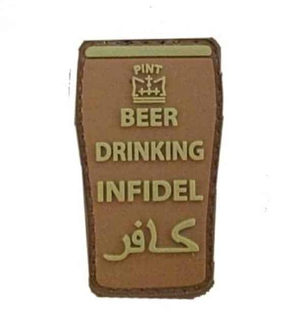 Beer Drinking Infidel patch (Tan)