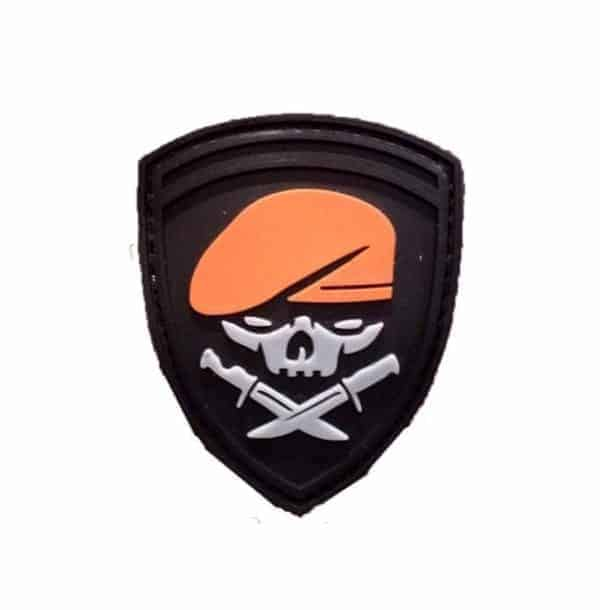Special forces skull and knives patch