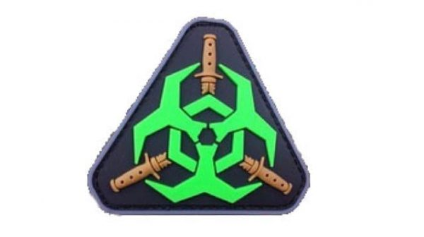 Biohazard triangle morale patch (Green)